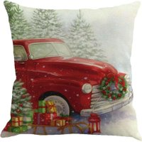 Christmas Cotton Xmas Pillow Cushion Cover Throw Case Sofa Home Car Decor