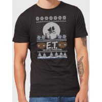 E.T. the Extra-Terrestrial Christmas Men's T-Shirt - Black - S - Black