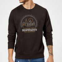Harry Potter I'd Rather Stay At Hogwarts Christmas Sweatshirt - Black - L - Black