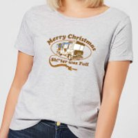 National Lampoon R.V. Women's Christmas T-Shirt - Grey - S - Grey