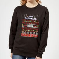 Nintendo Mario Kart Here We Go Women's Christmas Sweatshirt - Black - XL - Black