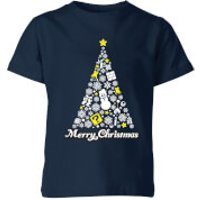 Nintendo Super Mario White Christmas Merry Christmas Kid's T-Shirt - Navy - 9-10 Years - Navy