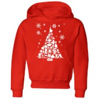 Star Wars Character Christmas Tree Kids' Christmas Hoodie - Red - 9-10 Years - Red