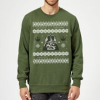 Star Wars Darth Vader Christmas Knit Green Christmas Sweatshirt - L - Green