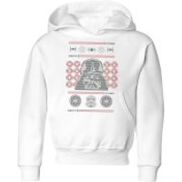 Star Wars Darth Vader Face Knit Kids' Christmas Hoodie - White - 11-12 Years - White