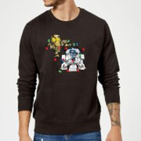 Star Wars Tangled Fairy Lights Droids Black Christmas Sweatshirt - XL - Black